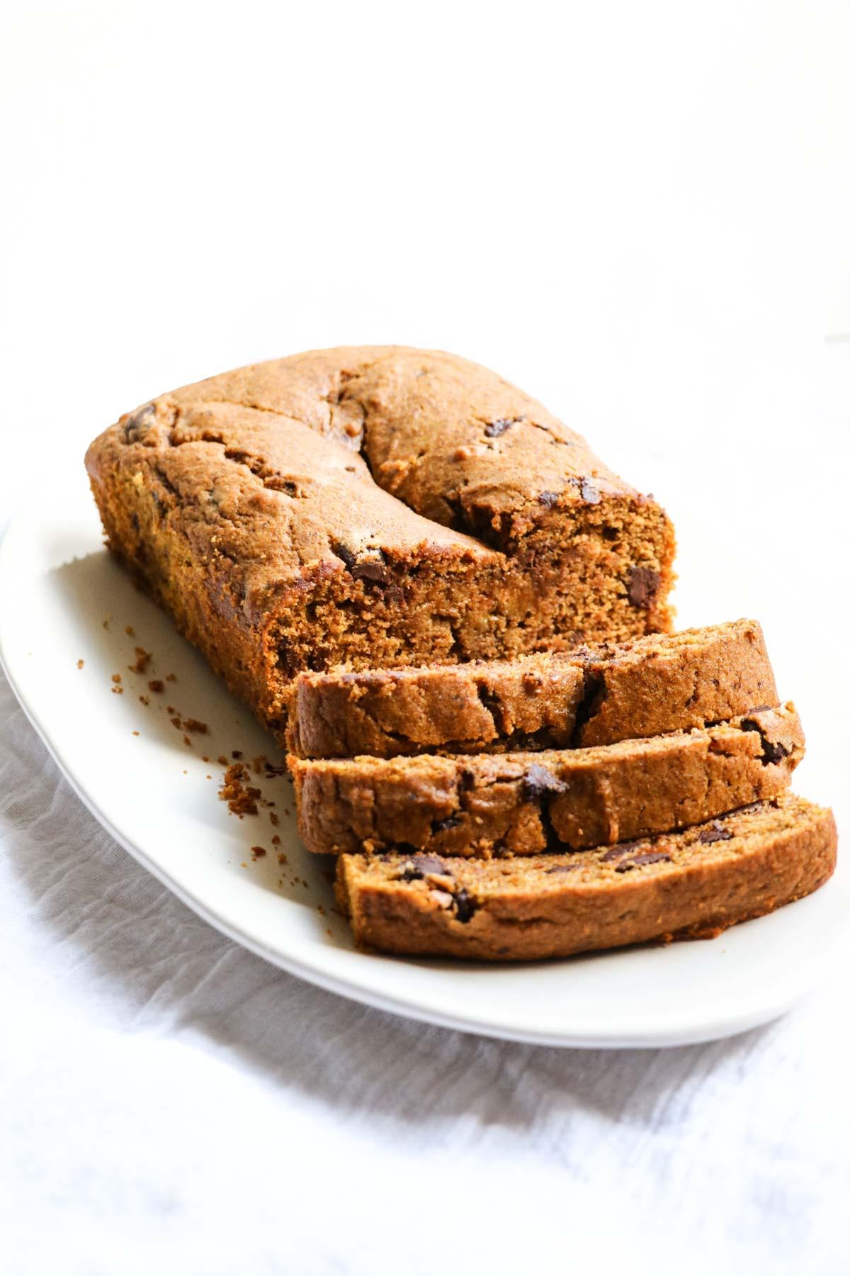 Healthy Pumpkin Chocolate Chip Bread  Healthy Pumpkin Chocolate Chip Bread