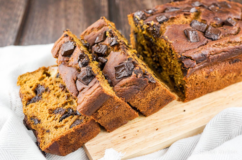 Healthy Pumpkin Chocolate Chip Bread  Healthy Pumpkin Chocolate Chip Bread Slender Kitchen