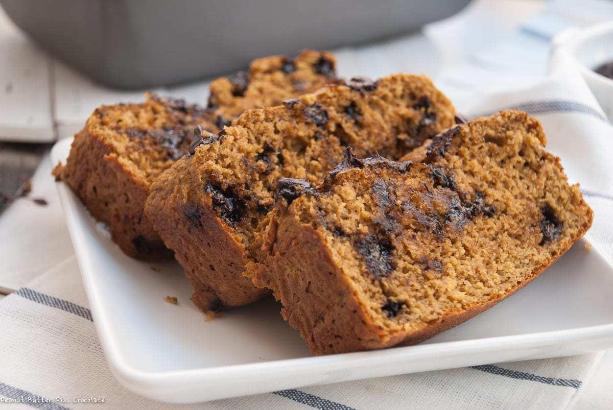 Healthy Pumpkin Chocolate Chip Bread  Healthy Chocolate Chip Pumpkin Bread No Oil High