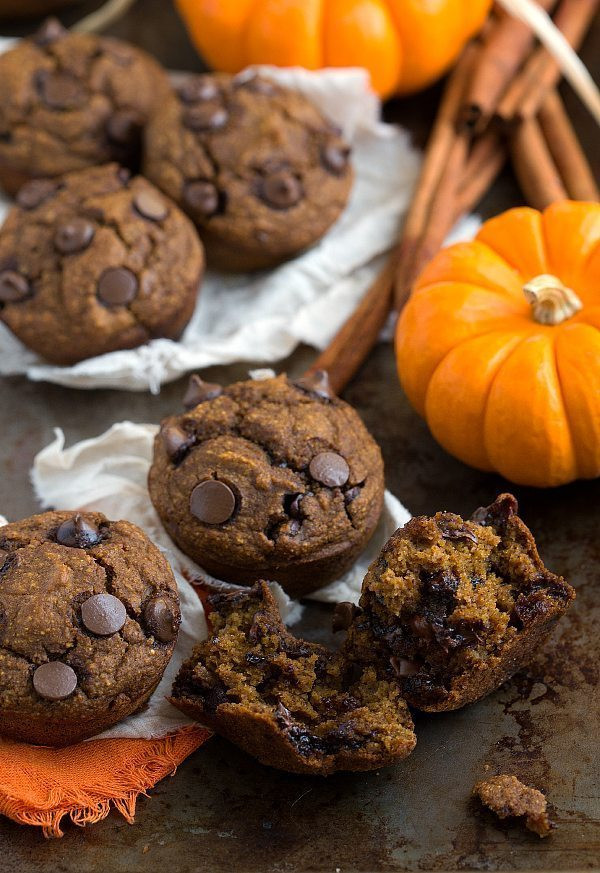 Healthy Pumpkin Chocolate Chip Muffins 20 Best Skinny & Healthy Pumpkin Chocolate Chip Muffins