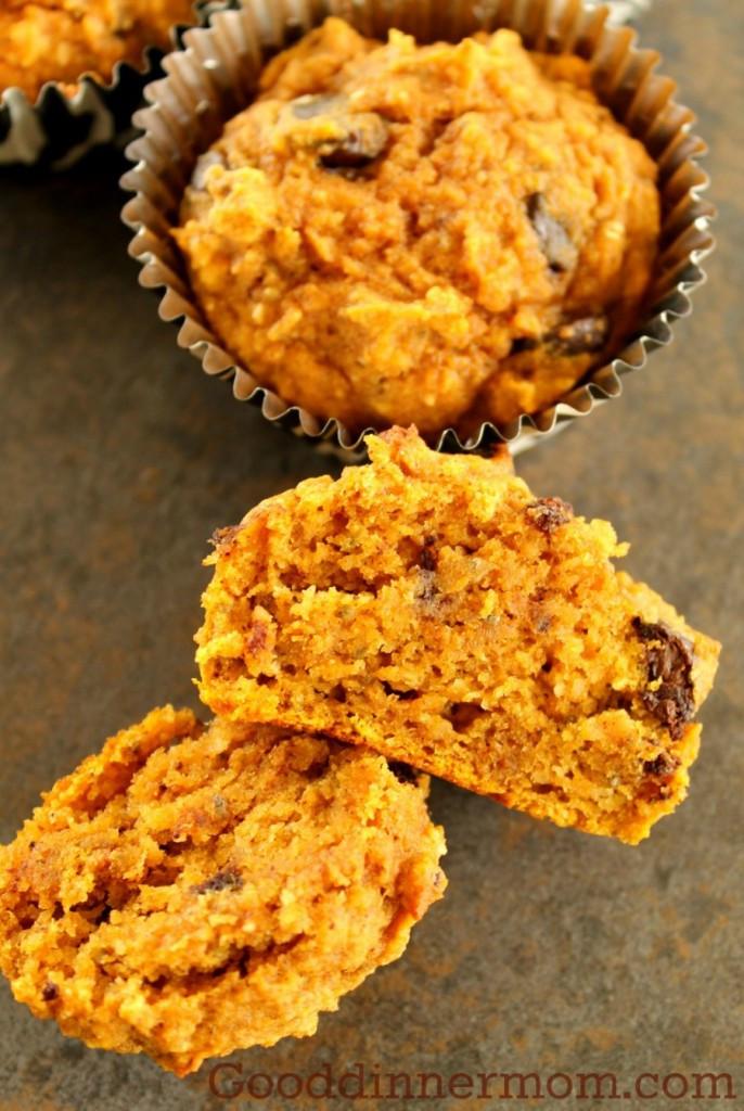 Healthy Pumpkin Chocolate Chip Muffins  Healthy Pumpkin Chocolate Chip Muffins Good Dinner Mom