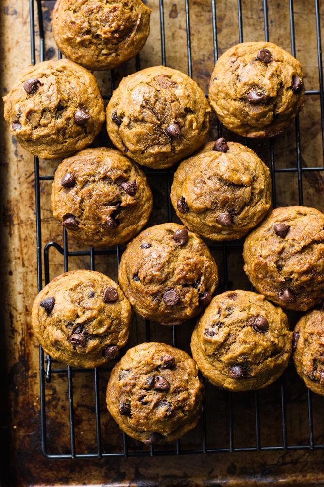 Healthy Pumpkin Chocolate Chip Muffins  Healthy Chocolate Chip Pumpkin Muffins Little Broken