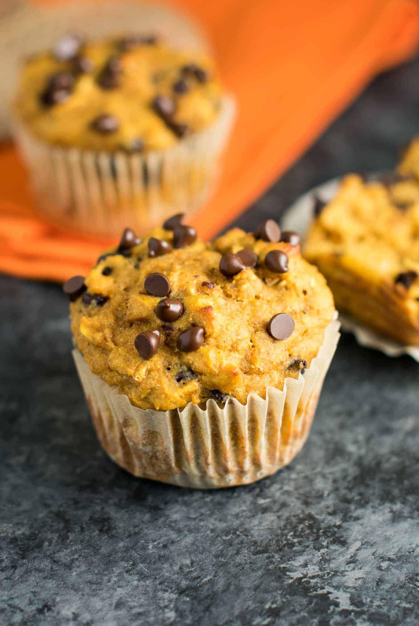 Healthy Pumpkin Chocolate Chip Muffins  Healthy Pumpkin Chocolate Chip Muffins Build Your Bite
