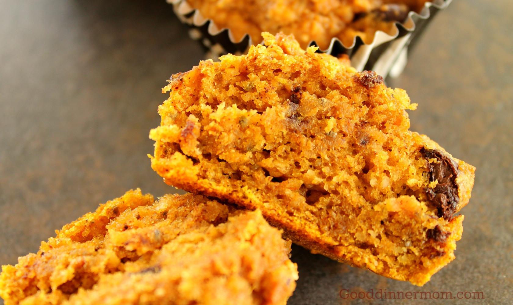 Healthy Pumpkin Chocolate Chip Muffins  Good Dinner Mom