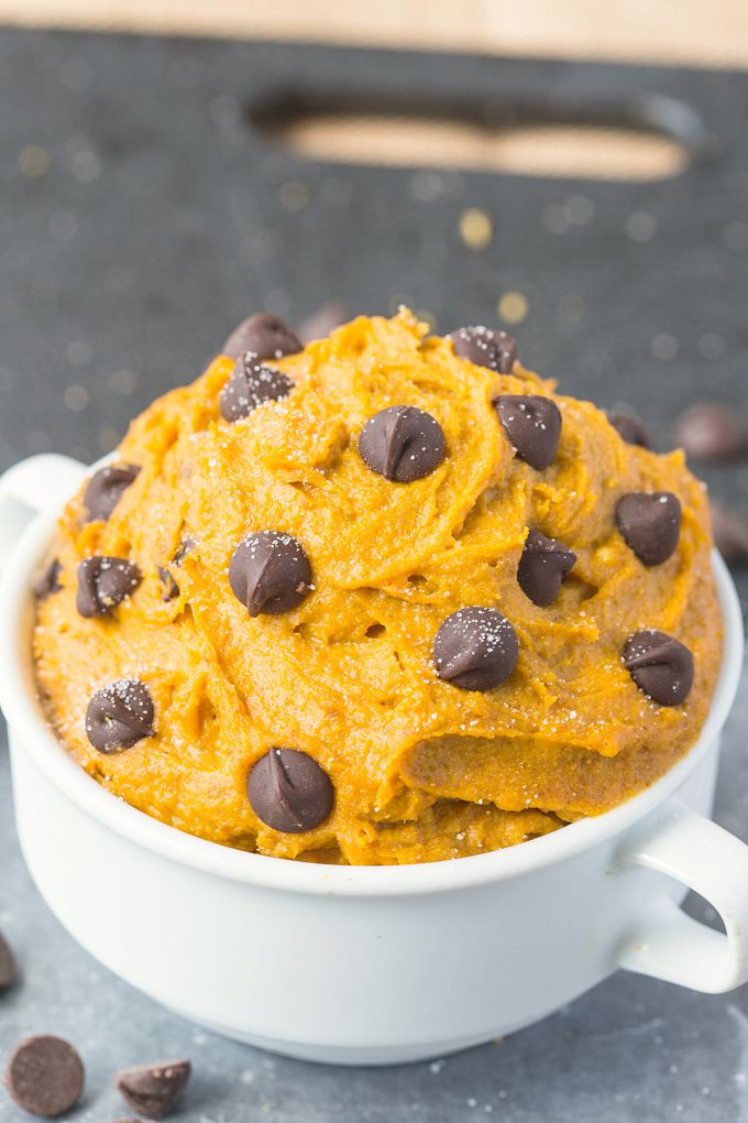 Healthy Pumpkin Cookie Recipes  Healthy Pumpkin Cookie Dough for e Paleo Vegan Gluten