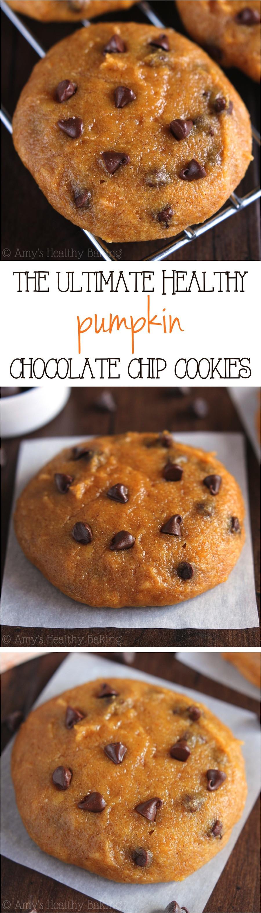 Healthy Pumpkin Cookies  Ultimate Healthy Soft & Chewy Pumpkin Chocolate Chip