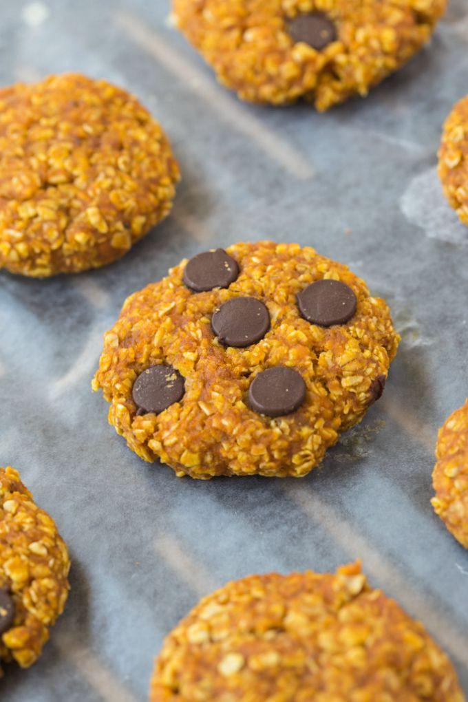 Healthy Pumpkin Cookies  Healthy 3 Ingre nt Pumpkin Cookies