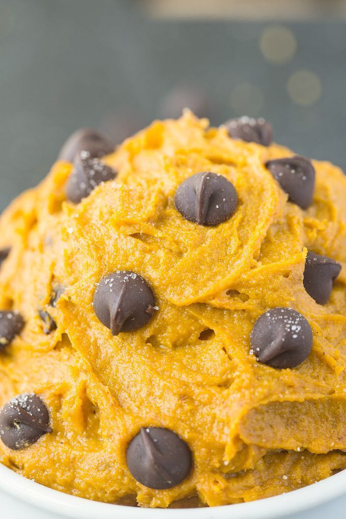 Healthy Pumpkin Cookies No Sugar  Healthy Pumpkin Cookie Dough for e Paleo Vegan Gluten