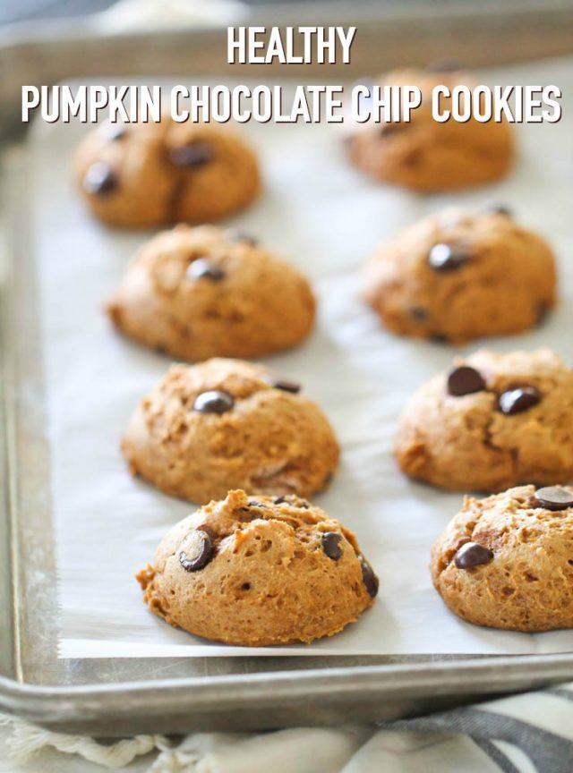 Healthy Pumpkin Cookies No Sugar  Healthy Pumpkin Chocolate Chip Cookies