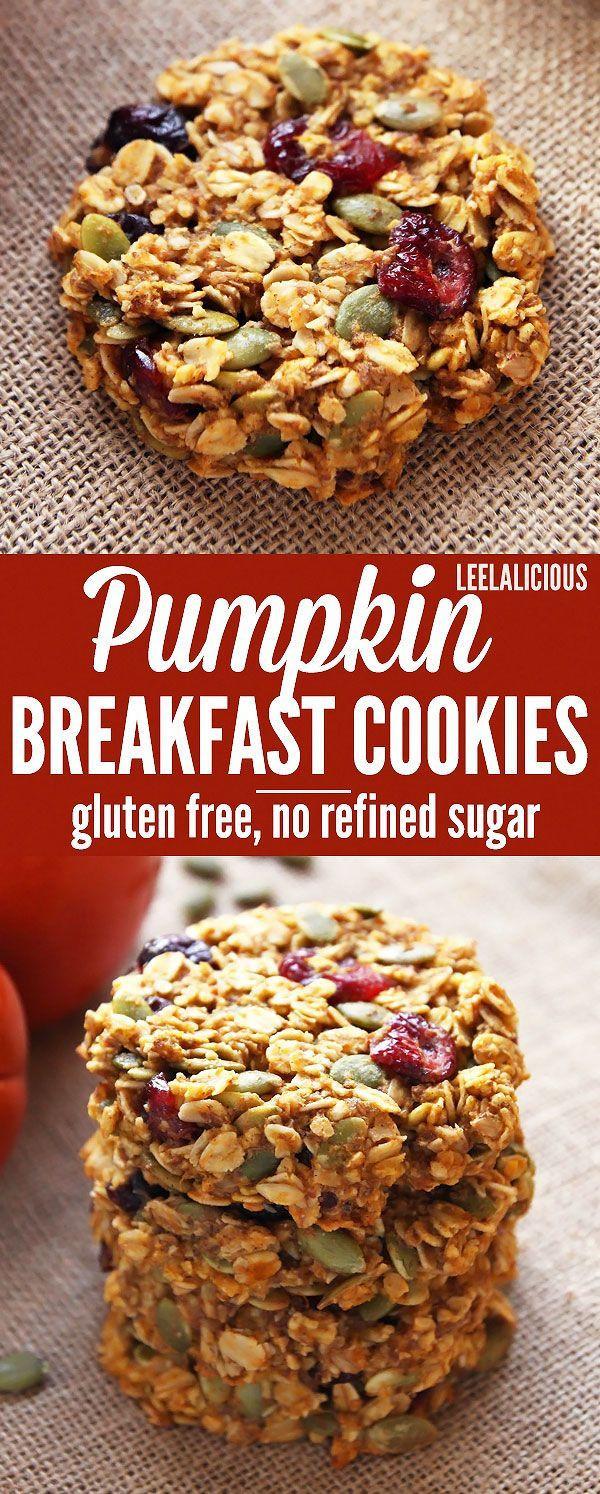 Healthy Pumpkin Cookies No Sugar  Pumpkin Breakfast Cookies healthy make ahead breakfast