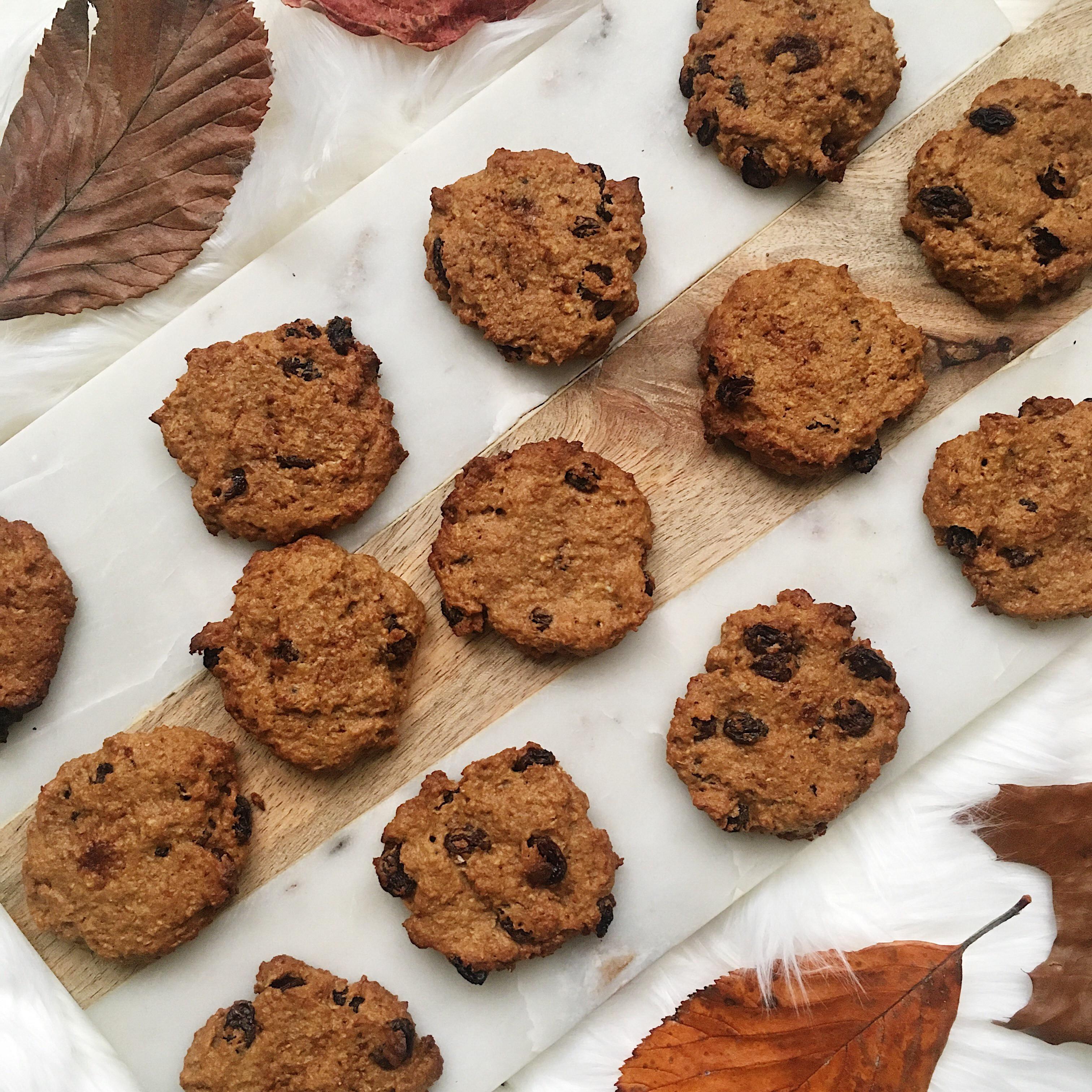 Healthy Pumpkin Cookies No Sugar  Recipe Healthy Pumpkin Spice Raisin Cookies