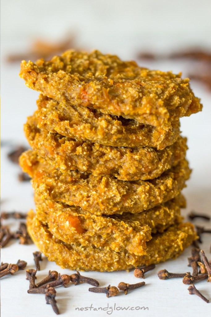 Healthy Pumpkin Cookies No Sugar  Healthy Pumpkin Spice Cookies Vegan with no Sugar and