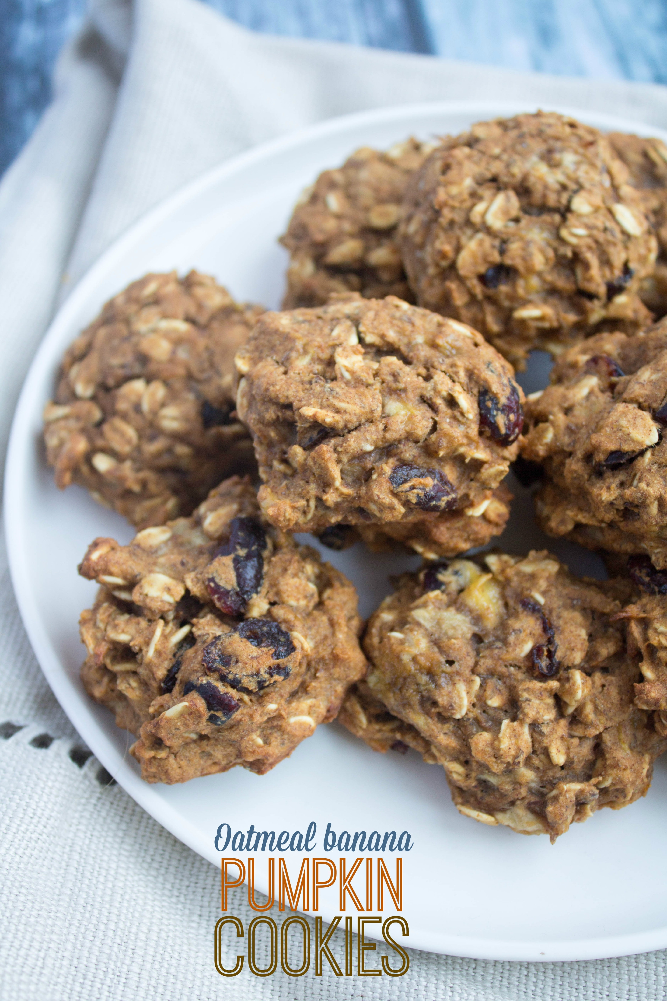 Healthy Pumpkin Cookies No Sugar  Oatmeal Banana Pumpkin Cookies