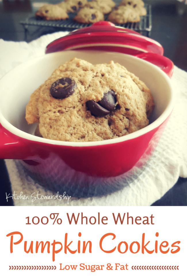 Healthy Pumpkin Cookies  Healthy Whole Wheat Soft Pumpkin Cookies Recipe