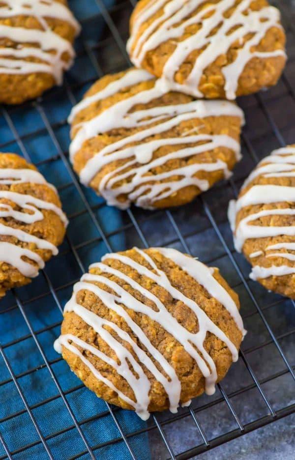Healthy Pumpkin Cookies  Pumpkin Oatmeal Cookies
