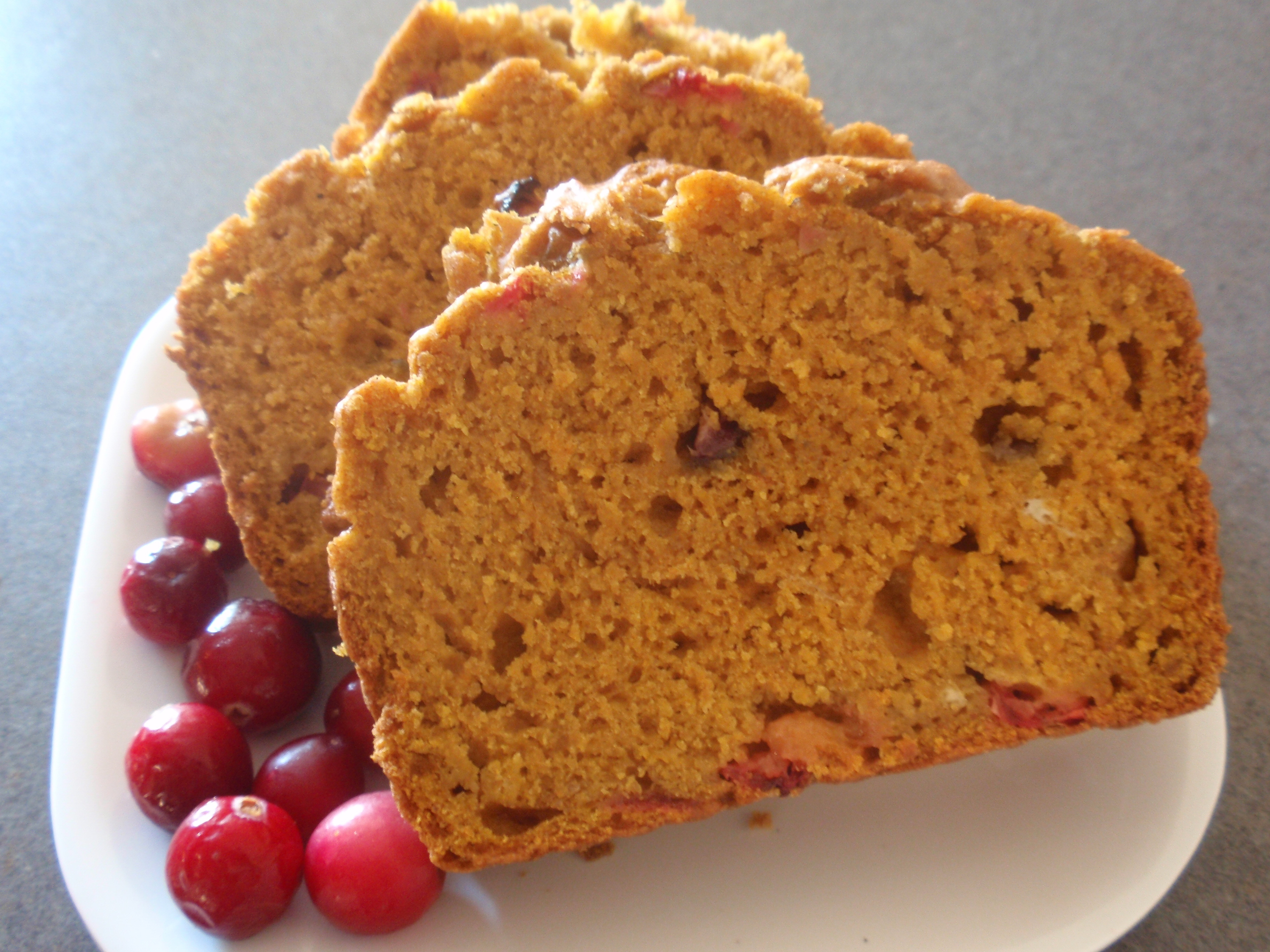 Healthy Pumpkin Cranberry Bread  Pumpkin Cranberry Bread Recipe