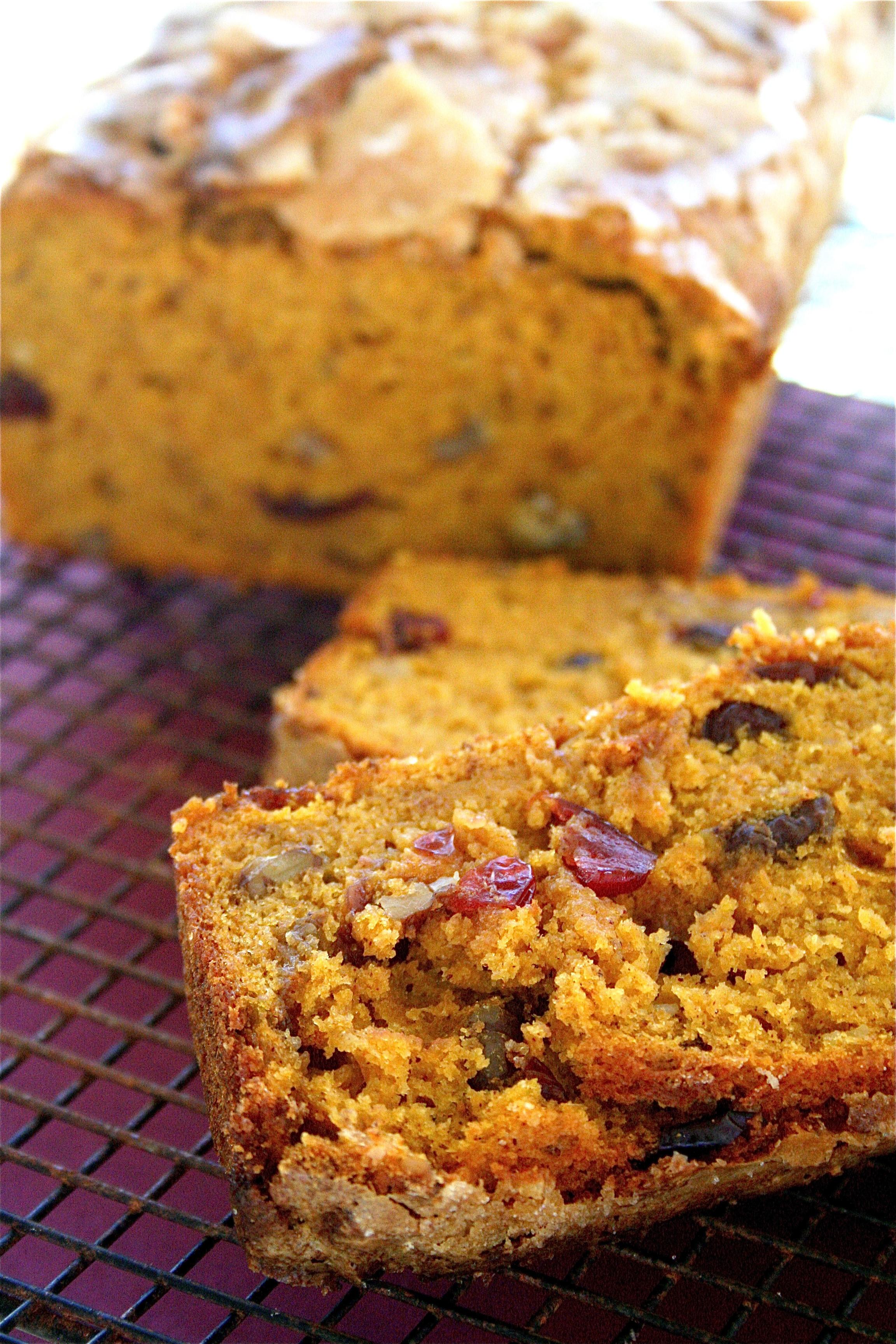 Healthy Pumpkin Cranberry Bread  Pumpkin Cranberry Walnut Bread