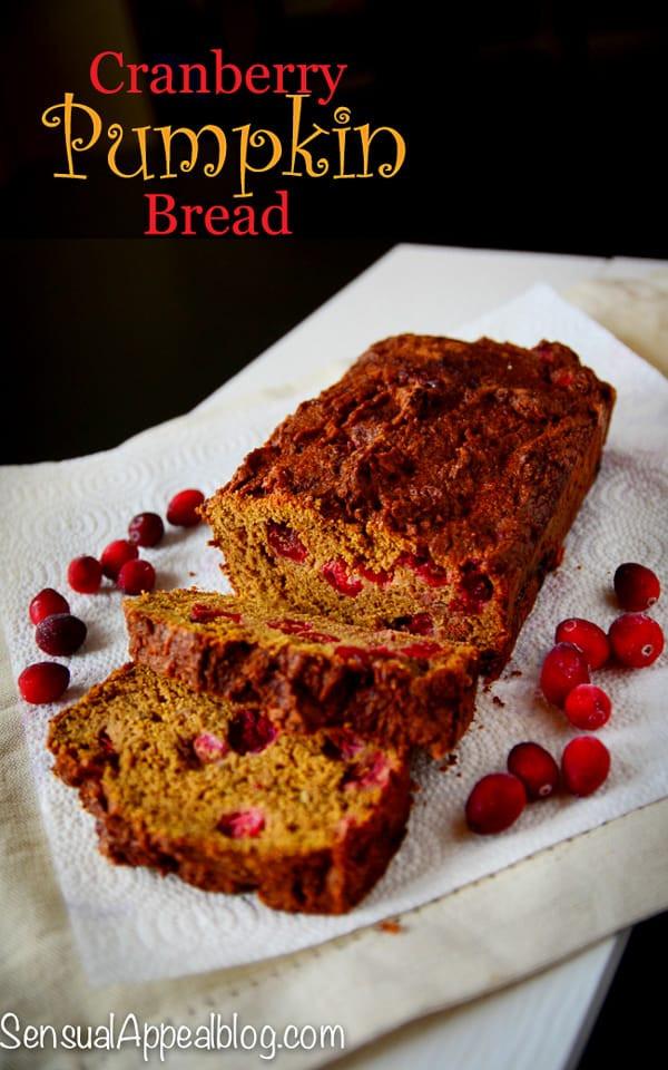 Healthy Pumpkin Cranberry Bread  Cranberry Pumpkin Bread Halloween Recipe for Mariano s