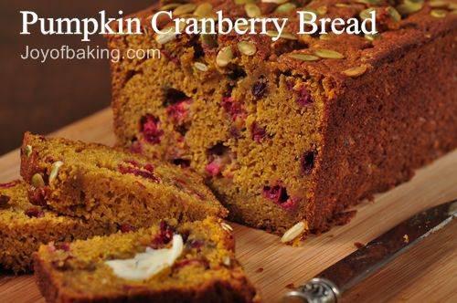 Healthy Pumpkin Cranberry Bread  Pumpkin Cranberry Bread Recipe Joyofbaking Tested