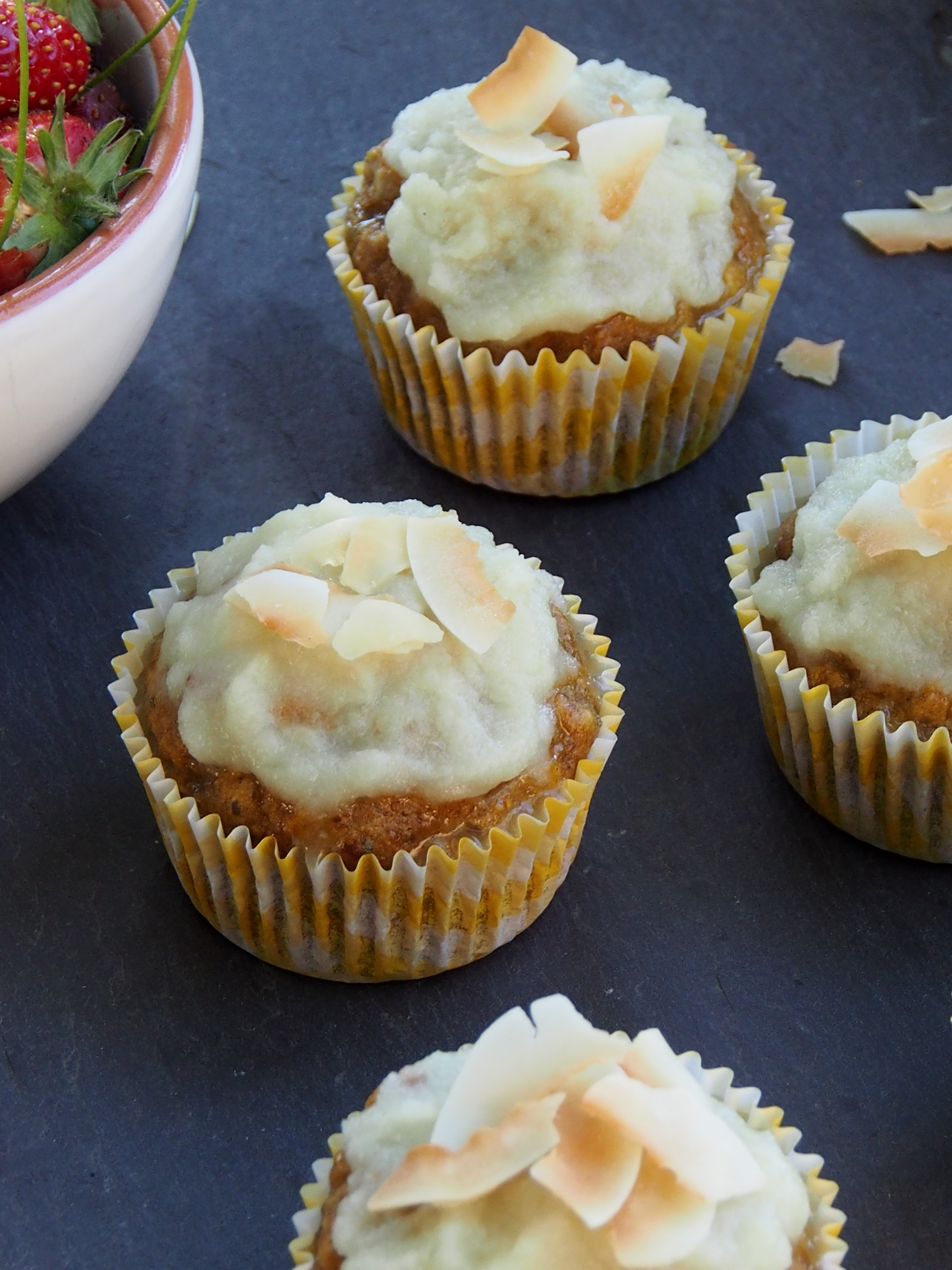 Healthy Pumpkin Cupcakes  Healthier Pumpkin Cupcakes with Coconut Lime Topping