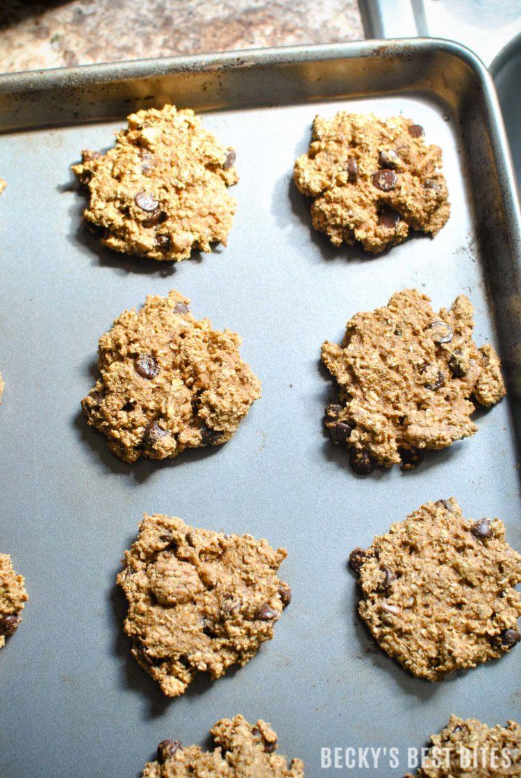 Healthy Pumpkin Oatmeal Chocolate Chip Cookies  Healthy Pecan Chocolate Chip Pumpkin Oatmeal Cookies