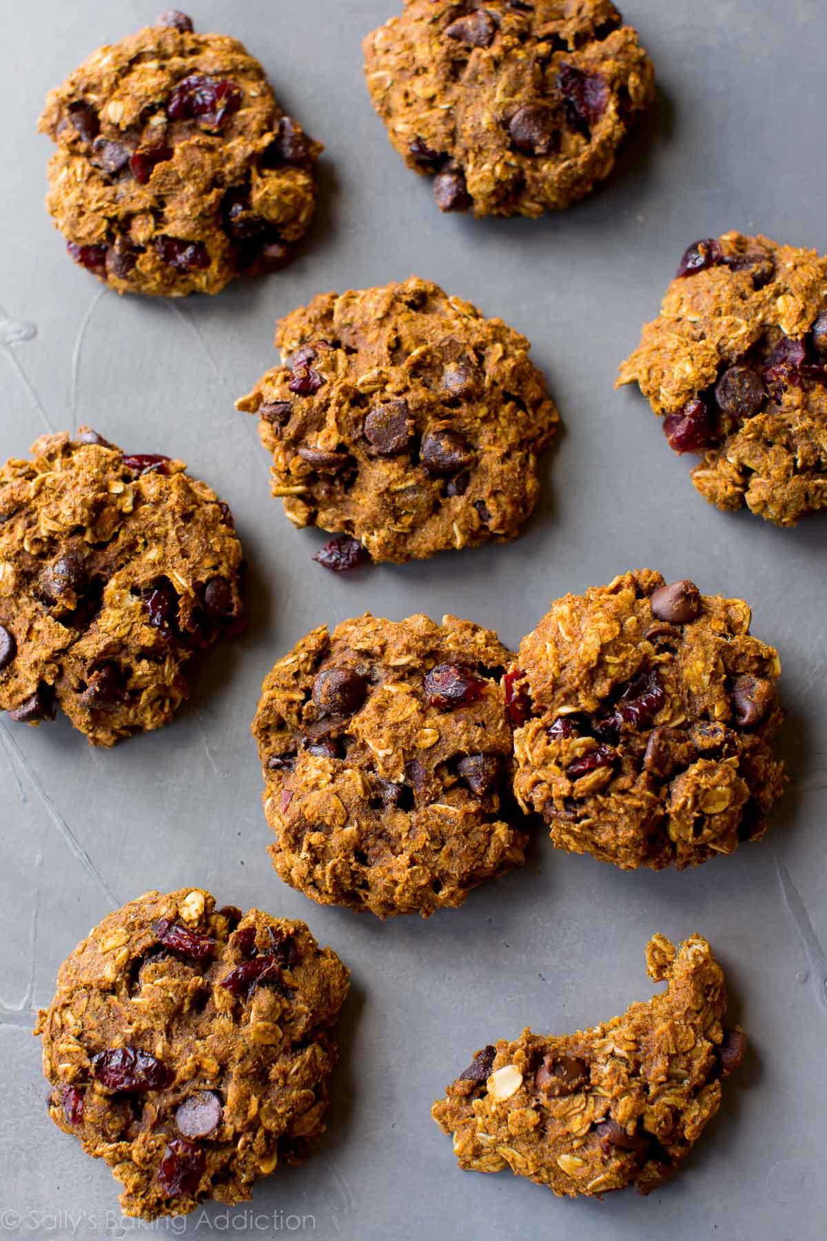 Healthy Pumpkin Oatmeal Chocolate Chip Cookies  Healthy Pumpkin Chocolate Chip Oatmeal Cookies Sallys