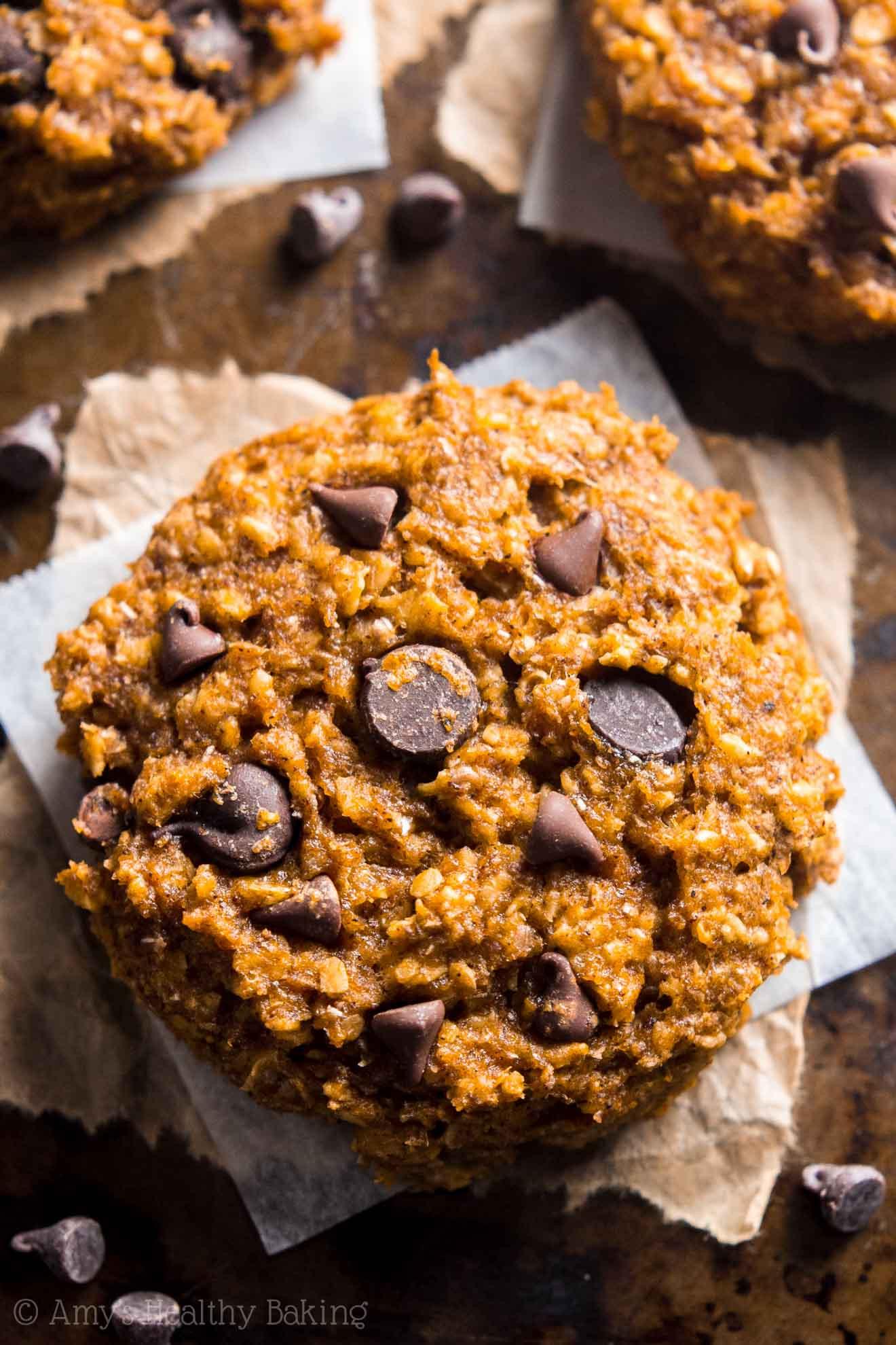 Healthy Pumpkin Oatmeal Chocolate Chip Cookies  Pumpkin Pie Chocolate Chip Oatmeal Cookies Recipe Video