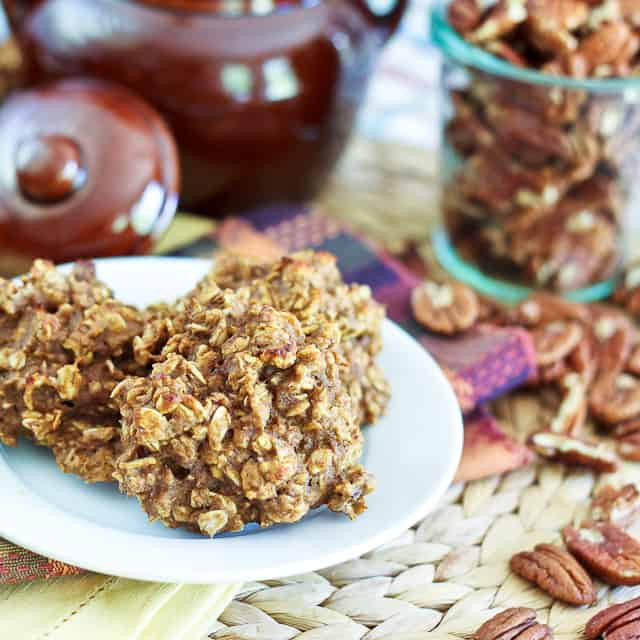 Healthy Pumpkin Oatmeal Cookies  Totally Sugar Free High Protein Shockingly Healthy