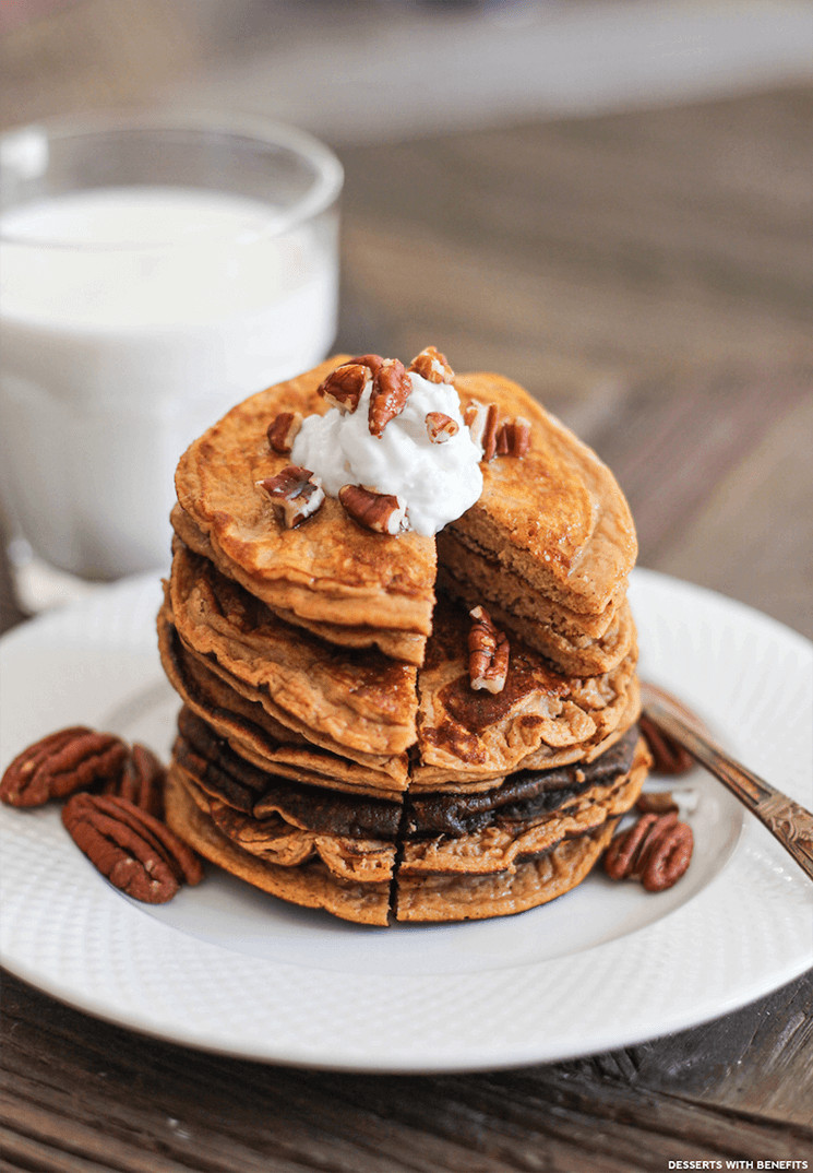 Healthy Pumpkin Pancakes  Canned Pumpkin Why I Love It And How To Use It e