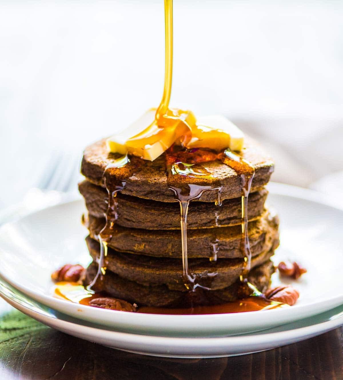 Healthy Pumpkin Pancakes Recipe  The BEST Healthy Pumpkin Pancakes Made EASY in the Blender