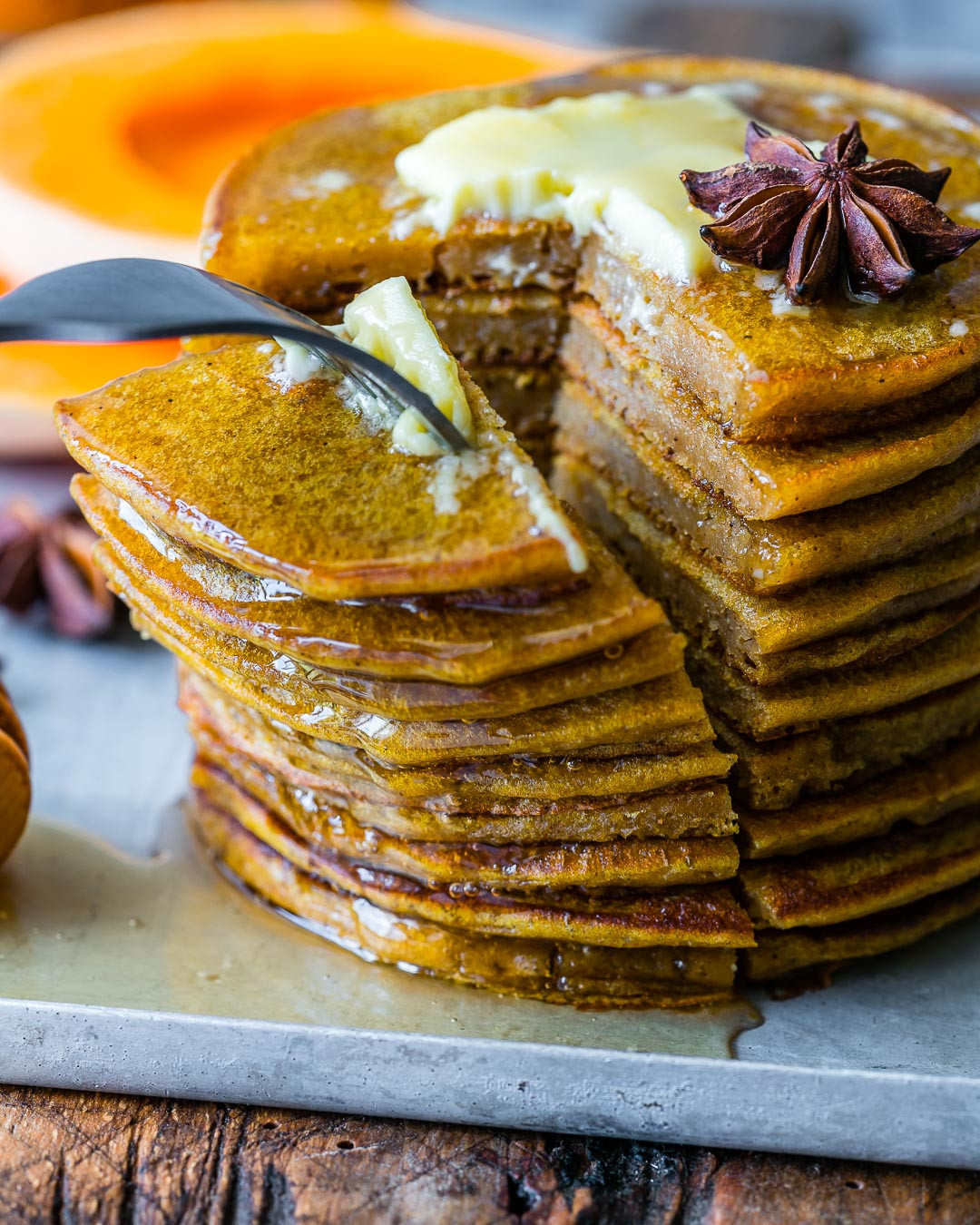 Healthy Pumpkin Pancakes Recipe  Healthy Pumpkin Spice Pancakes With Coffee Extract Recipe