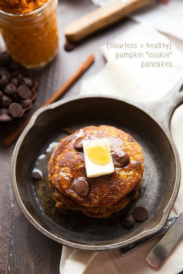 Healthy Pumpkin Pancakes  Healthy Flourless Pumpkin Pancakes