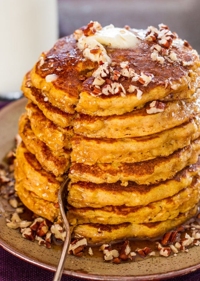Healthy Pumpkin Pancakes  Healthy Whole Wheat and Oats Pumpkin Pancakes Jo Cooks