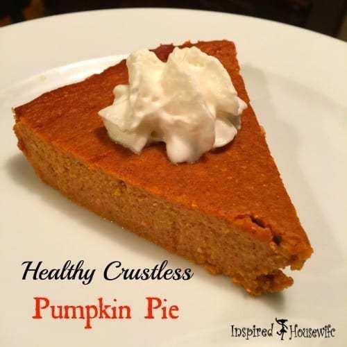 Healthy Pumpkin Pie Recipe  Healthy Crustless Pumpkin Pie Thanksgiving Doesn t need
