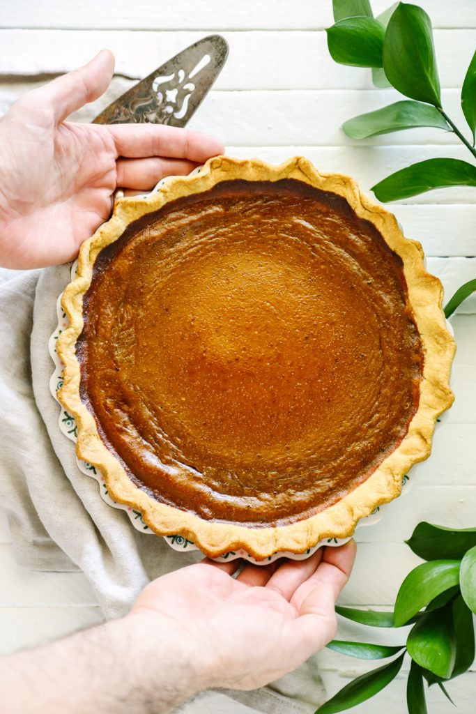 Healthy Pumpkin Pie Recipe From Scratch  Naturally Sweetened Healthy Pumpkin Pie Live Simply