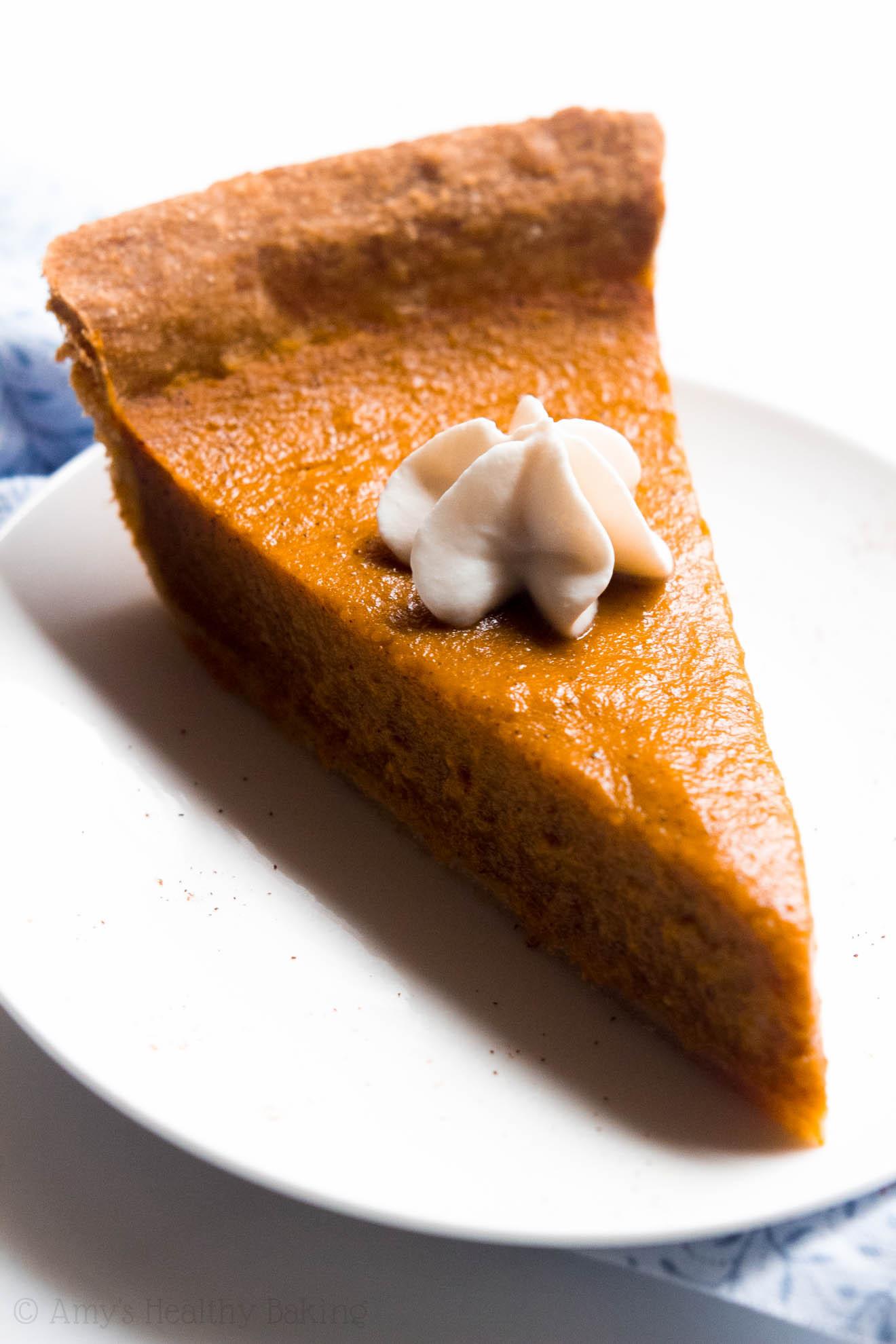 Healthy Pumpkin Pie Recipe  healthy pumpkin pie recipe greek yogurt