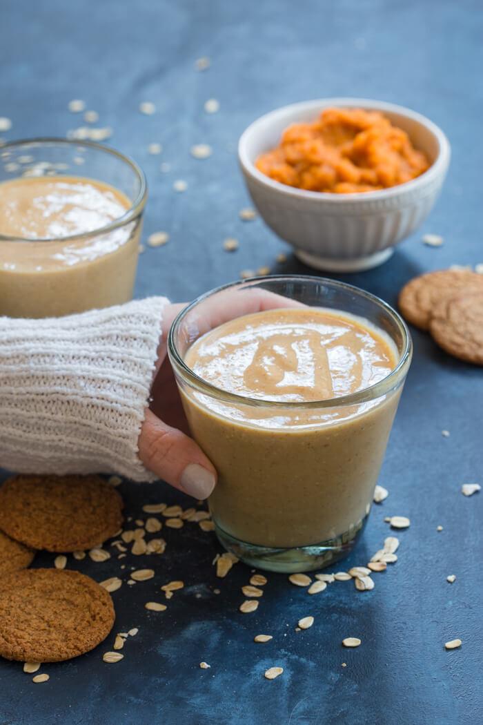 Healthy Pumpkin Pie Recipe With Almond Milk  pumpkin smoothie almond milk
