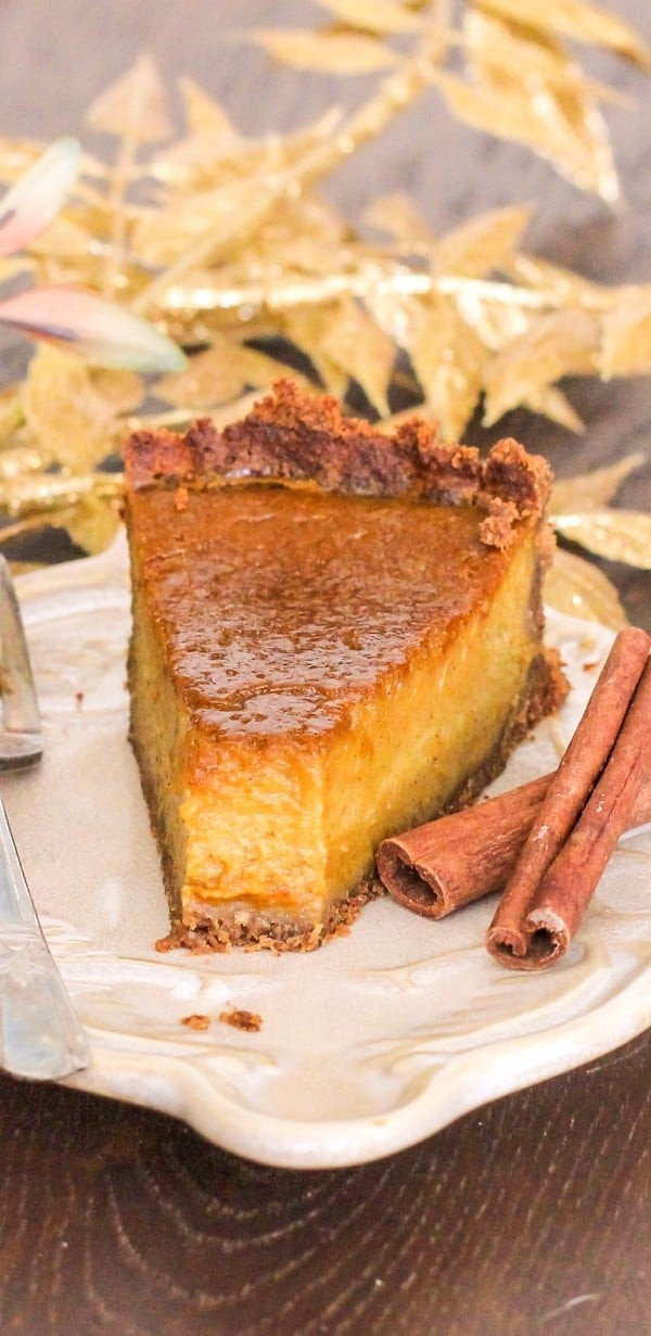 Healthy Pumpkin Pie Recipe With Almond Milk  Healthy Pumpkin Pie recipe refined sugar free gluten