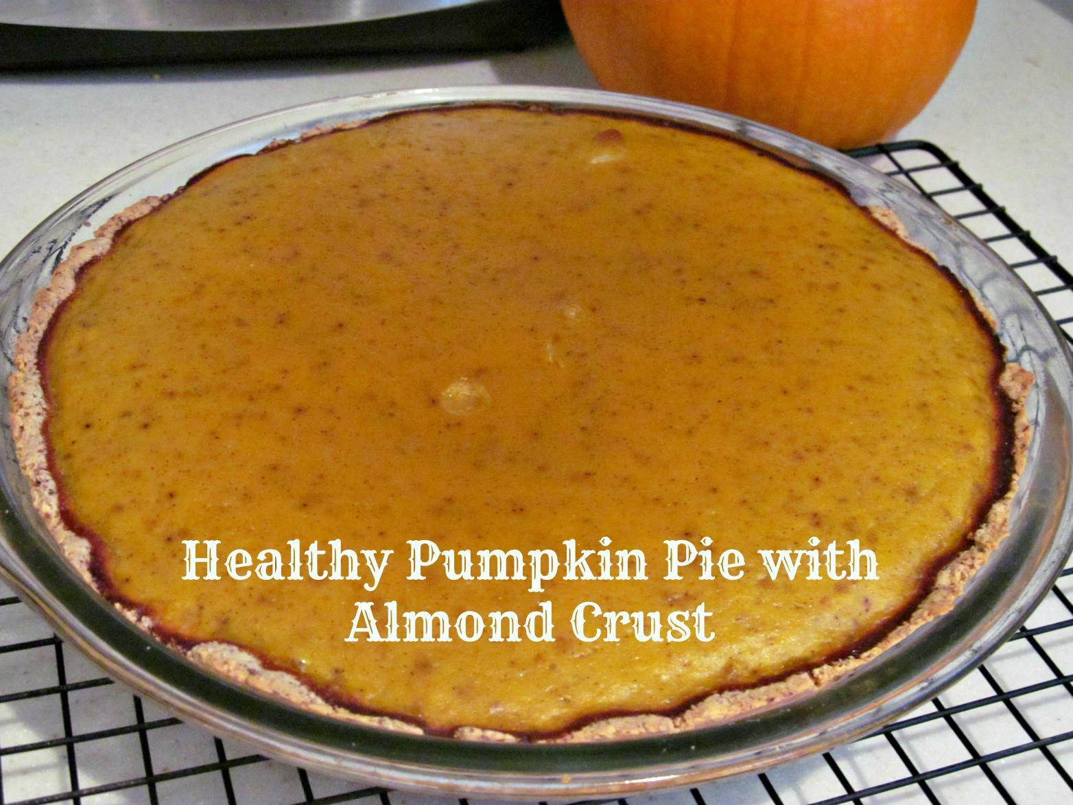 Healthy Pumpkin Pie Recipe With Almond Milk  Healthy Pumpkin Pie with Almond Crust – The Chocolate Bottle
