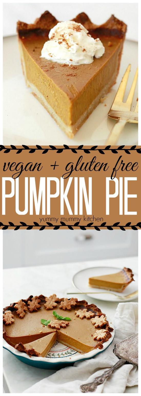Healthy Pumpkin Pie Recipe With Almond Milk  Vegan Pumpkin Pie
