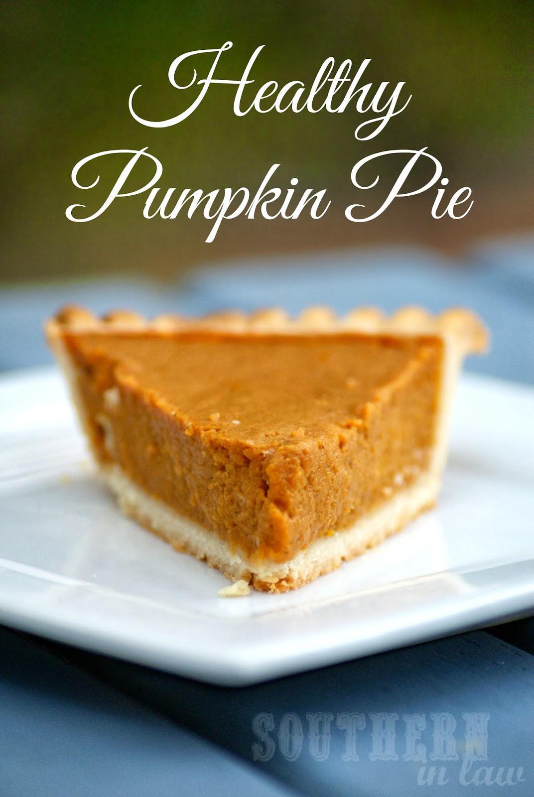 Healthy Pumpkin Pie Recipes  Southern In Law Healthy Pumpkin Pie Recipe