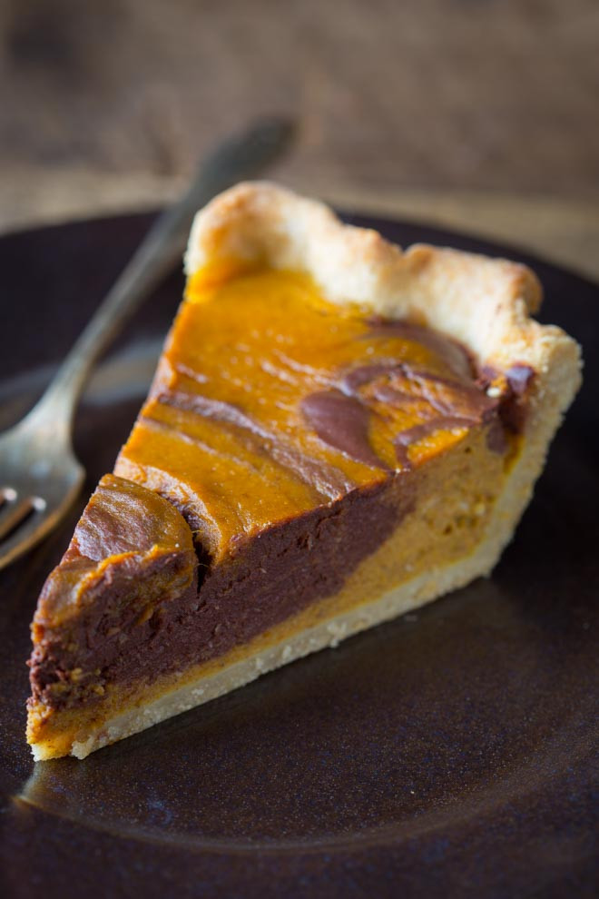 Healthy Pumpkin Pie Recipes  chocolate swirl pumpkin pie Healthy Seasonal Recipes