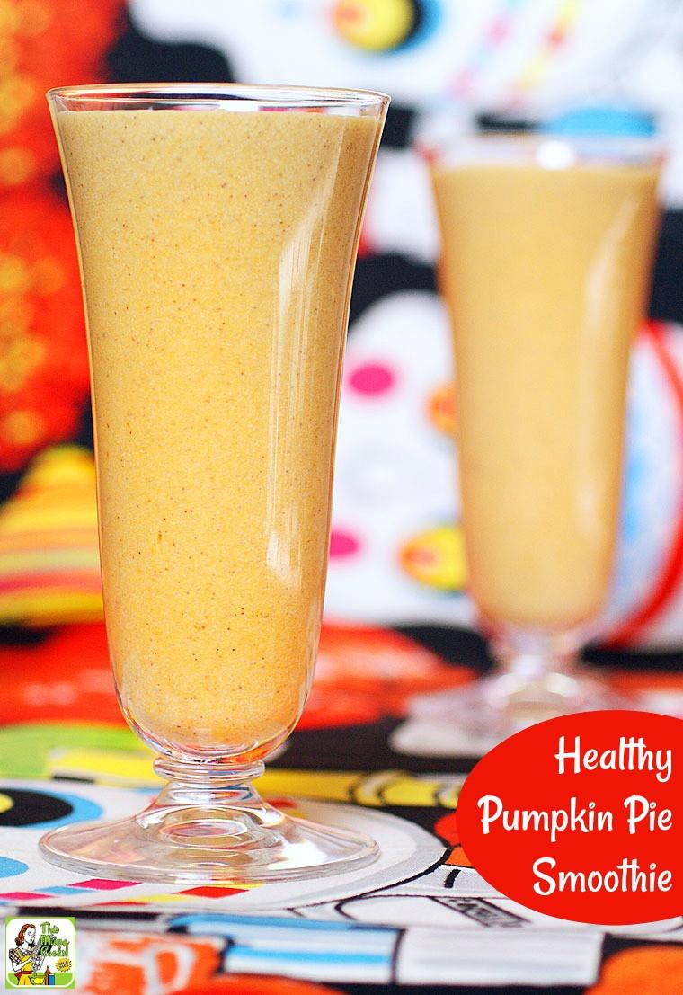 Healthy Pumpkin Pie Smoothie  Healthy Pumpkin Pie Smoothie