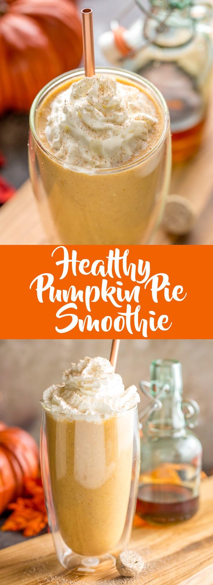 Healthy Pumpkin Pie Smoothie  Healthy Pumpkin Pie Smoothie Fox and Briar