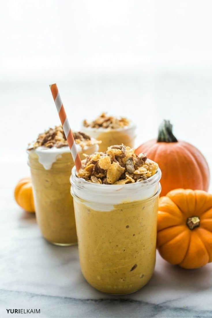 Healthy Pumpkin Pie Smoothie  Healthy Pumpkin Pie Smoothie Vegan