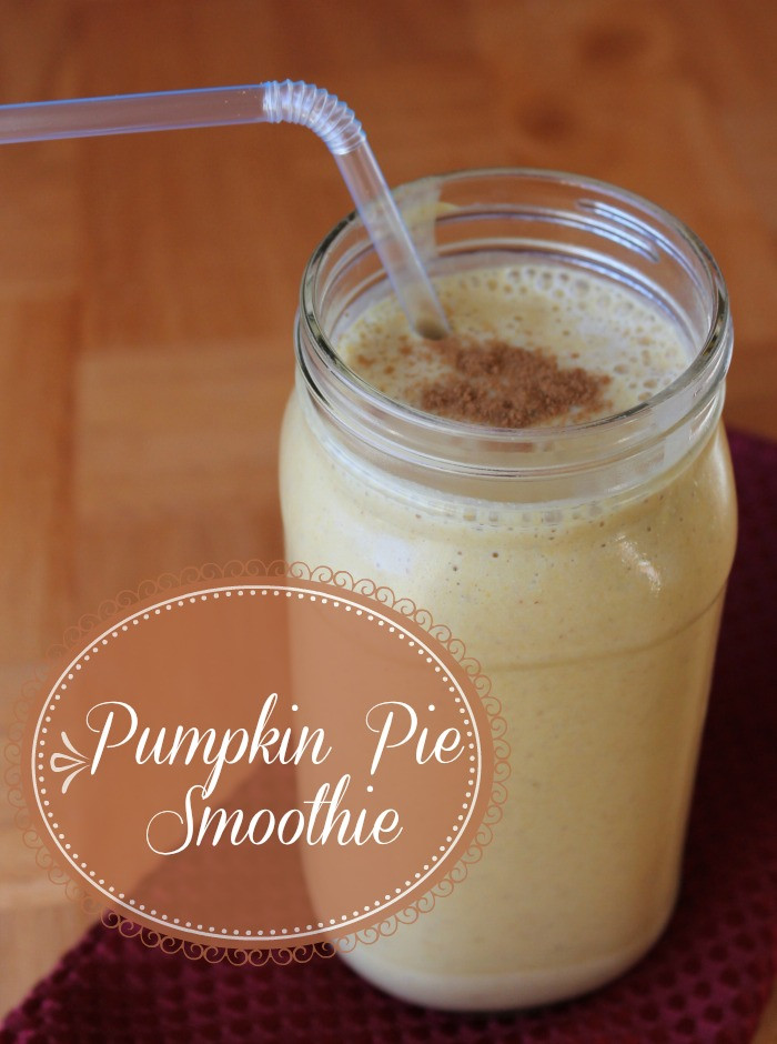 Healthy Pumpkin Pie Smoothie  Pumpkin Pie Smoothie Organize Yourself Skinny