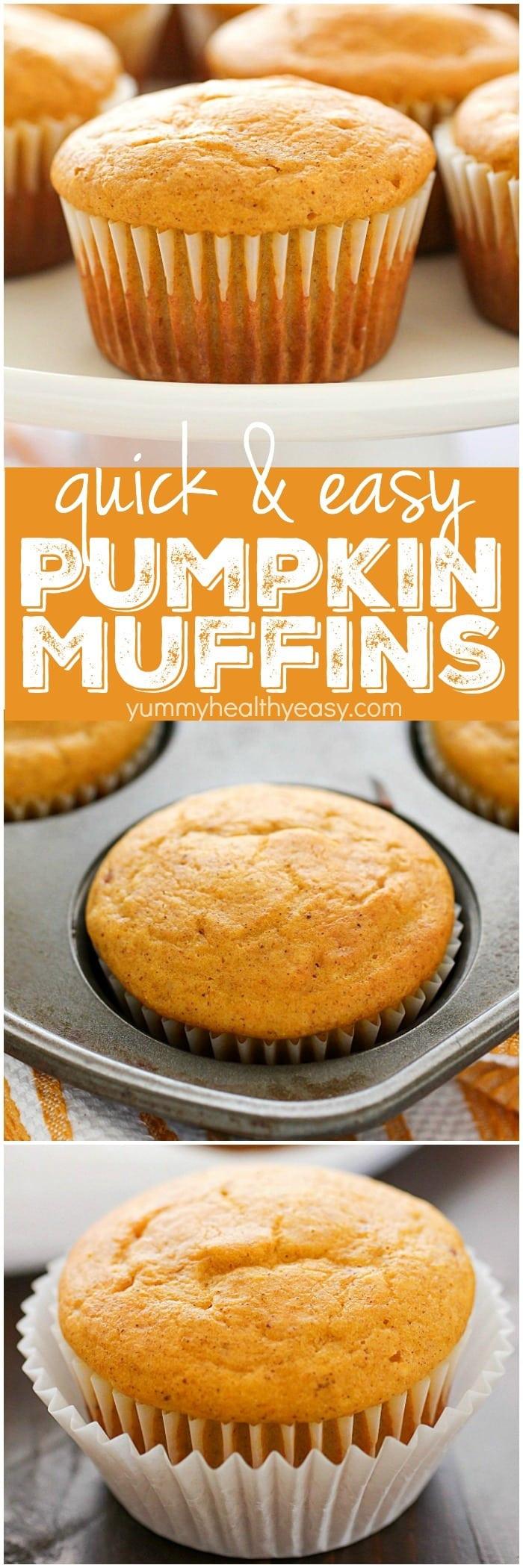Healthy Pumpkin Recipes Easy  Quick & Easy Pumpkin Muffins Yummy Healthy Easy
