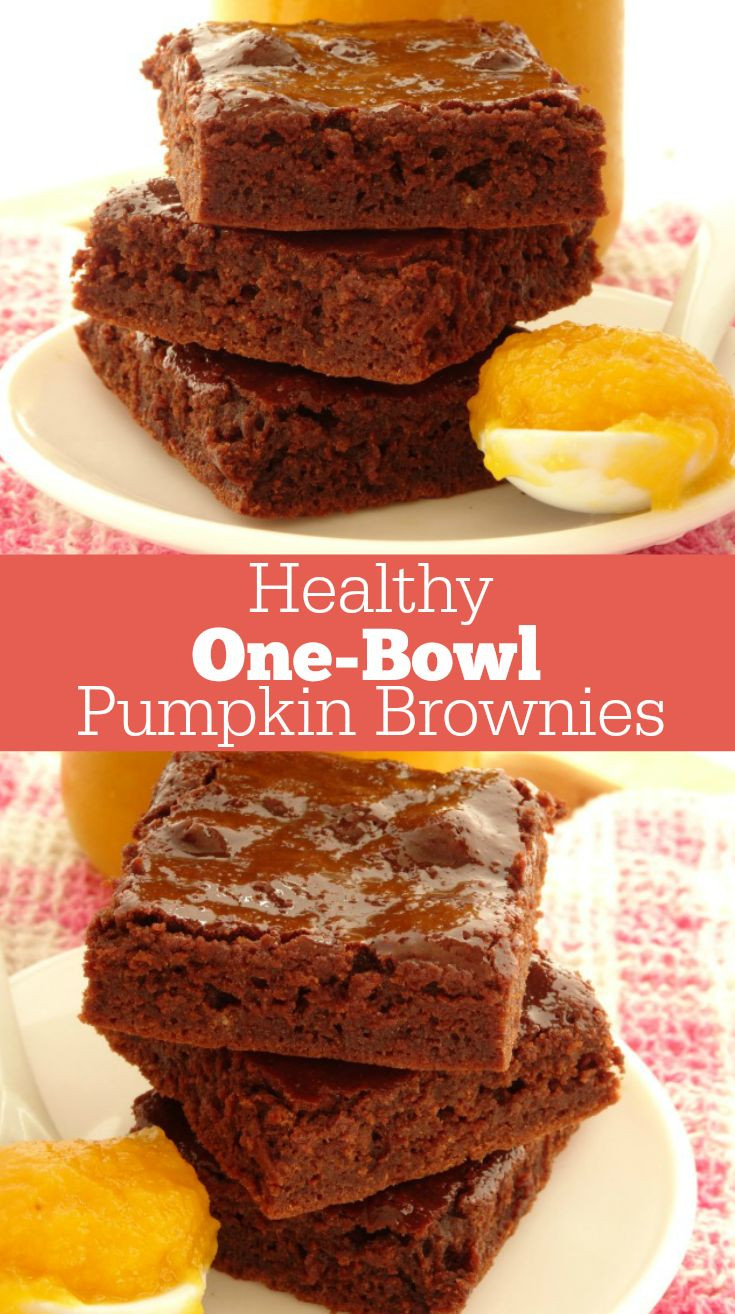 Healthy Pumpkin Recipes  e Bowl Healthy Pumpkin Brownies Recipe A quick and easy