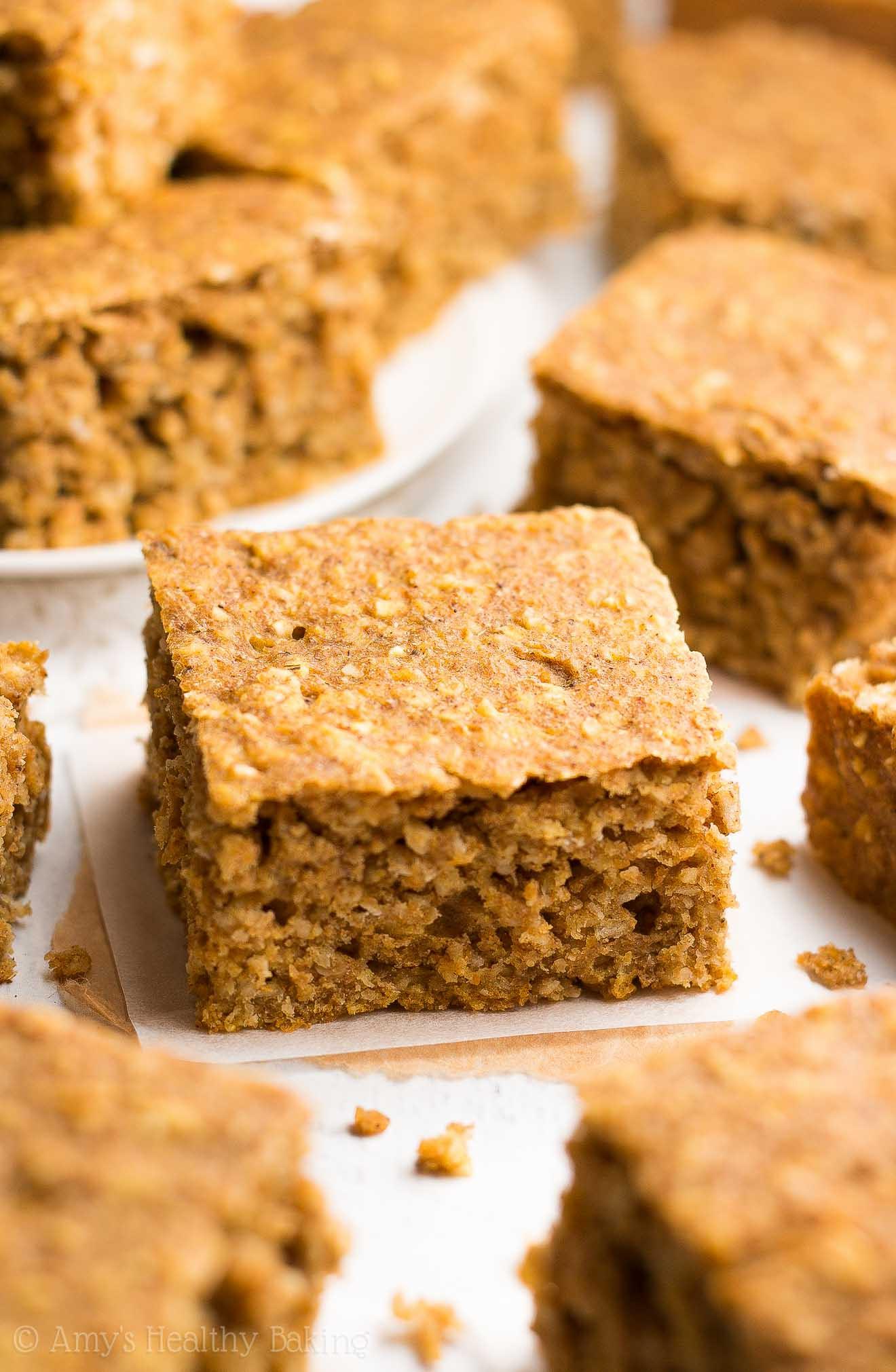 Healthy Pumpkin Recipes  Healthy Pumpkin Oatmeal Snack Cake