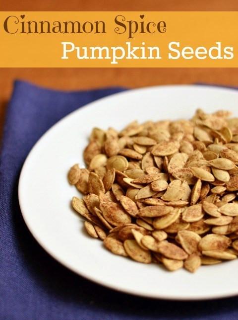 Healthy Pumpkin Seed Recipes  Cinnamon Spice Roasted Pumpkin Seeds a Healthy Snack